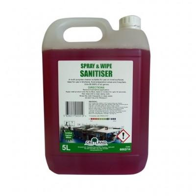 Spray and Wipe Sanitiser 5L