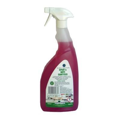 Spray and Wipe Sanitiser-6 x 750ml